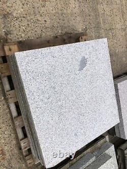STUNNING GREY SOLID GRANITE STEPS, PAVING 4 X 800x800x50 FLAMED FINISHED