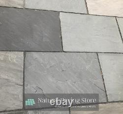 Sandstone KANDLA GREY paving 600x900 natural Indian patio slabs flags
