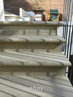 Sawn Step Treads with Bullnose Front Natural Yorkshire York Stone