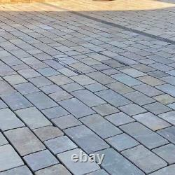 Silver Grey Block Paving Setts Drive way Calibrated Natural Patio Stone 40MM New
