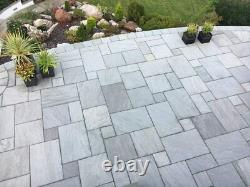 Silver Grey Sandstone Indian Natural Paving Slabs Sawn Patio Stone Floor 15.39m2