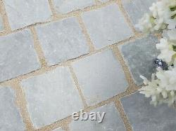 Silver Kandla Grey Driveway Mix Block Paving setts 50mm Driveway Indian Stone