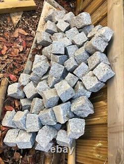 Silver grey granite cobble setts unused (100)
