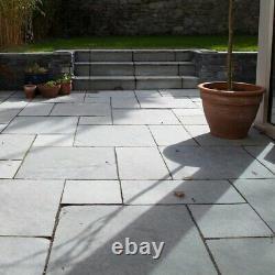 South Indian Grey Limestone Slabs Garden Natural Paving Patio Floor Handcut Slab