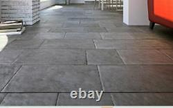 South Indian Lime Grey Stone Paving Smooth Indoor Flooring Tiles 500XFL 16.25m2