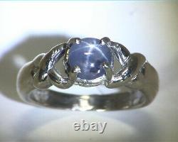 Star Sapphire Natural Genuine Gemstone Sterling Silver Lady, s Ring RSS, 668
