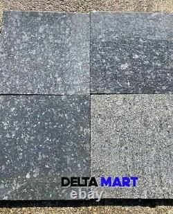 Steel Grey Granite Paving slabs 600x600x18mm natural stone contemporary patio
