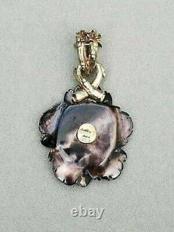 Stephen Dweck Necklace Pendant Enhancer Diamond Mother of Pearl Sterling Silver