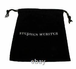 Stephen Webster Jewels Verne Womens crystal haze fish skeleton silver ring size6
