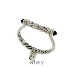Stephen Webster Superstud Sterling Silver Grey Cat's Eye Bracelet Bangle