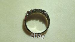Striking Cats Eye Alexandrite 5 Stone 9 Carat White Gold Ring Unworn Size N