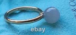 Tiffany & Co 18k Rose Gold Grey Moonstone 8mm Bead Ring 6