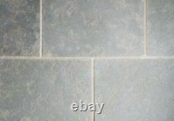 Tumbled Grey Limestone floor tiles flags 900 x 600 like yorkshire stone 38mtrs