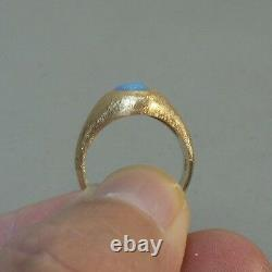VINTAGE 14K YELLOW GOLD & CABOCHON FIRE OPAL RING, SIZE 7.25 Appraised $1250.00