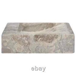 VidaXL Sink Grey 58x39x10 cm Marble Washroom Natural Stone Basin Bathroom