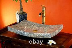 Wash Basin Natural Stone Marble Basin 55 X 35 CM Hand Basin Gray