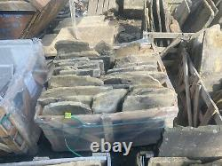 Yorkshire Stone Roofing Slates Reclaimed- Greys