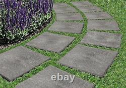 12 X 12 Stomp Stone Landscaping Patio Paver Caoutchouc Recyclé Faux Ardoise Naturelle