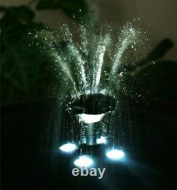 2 Niveau Birdbath Caractéristique De L'eau Fontaine Solar Powered Stone Effect Garden