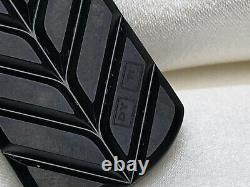 $6,800 David Yurman Streamline 19x35mm Dog Tag In Black Titanium W Grey Sapphire