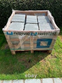 80 X Pavestone Denby Tudor Cobble Gris Pavage En Pierre Naturelle Taille Des Labs 400 X 300