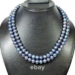 Aaa+ Multi Couleur Rond Paon Tahitian Cultured 550ct/18 Collier De Perles