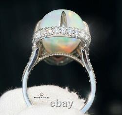 Anneau Opal Gold Diamond Natural 16.22ctw Gia Certified Retail 16100 $