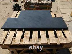 Ardoise Cheminée Hearth Bleu-noir Ou Gris 90cm X 60cm Pierre 100% Naturelle