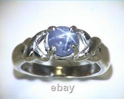 Étoile Saphir Gemme Authentique Naturel Sterling Silver Lady, S Anneau Rss, 668