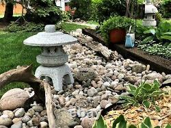 Granite Naturelle Coupe À La Main Lanterne Japonaise-yukimi D45cm (vendu)
