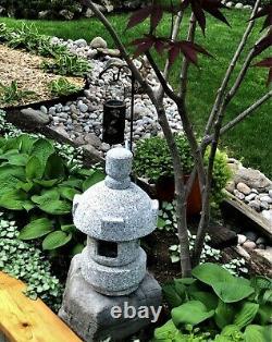 Granite Naturelle Lanterne Japonaise Coupée À La Main-misaki D30cm