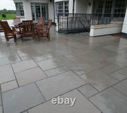 Grey Limestone Calibré Naturel Bords De Sciage -mix Taille 22mm Paving Stone