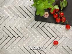 Gris Herringbone Marble Tiles Wall Floor Pierre Naturelle