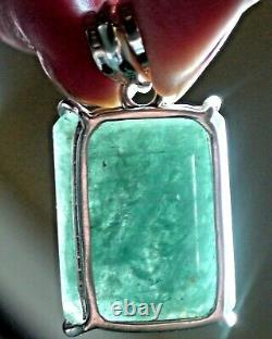 Gros! 43.0 Ct Pendentif Naturel Beryl Aquamarine 925 Argent Sterling