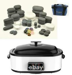 Hot/cold Stone Massage Kit 68 Basalt/marble Stones + 17 Litres (18 Quart) Chauffe-glace