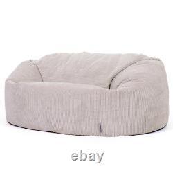 Icon Giant Bean Bag Cord Love Siège De Luxe Snuggle Chaise Deux Seater Beanbag