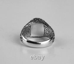 John Hardy Silver Legends Naga Oval Signet Ring Sz 9 Silver Shen Obsidian 78r