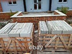 Kandla Grey Calibré Grès Indien Naturel 19m2 Patio Pack 560 Série