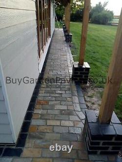 Kandla Grey Cobble Setts Naturel 200x100 40mm+ Bordure De Pavage De L'allée Extérieure