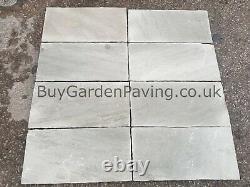 Kandla Grey Indian Stone Paving Dalles 22mm 600x290 17m2 Pack Natural Grey