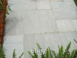 Kandla Grey Natural Indian Sandstone Patio Pack22mm Cal 15.25 Sq Mtr 48slabs