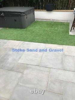 Kandla Grey Smooth 900x600 Dalles De Pavage 18m2 Pack Sawn Honed Sandstone 3x2