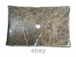 Laver Le Bassin Naturel De Marbre En Pierre 55 X 35 CM Hand Basin Gris