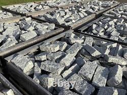 Magnifiques Sets De Granit Gris 25 Tonne 200 X 100 X 40-60mm Cobbles Driveway Setts