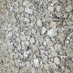 Modern Pearl Cream Big Chip Natural Real Mica Stone Fond D'écran Plain Textured