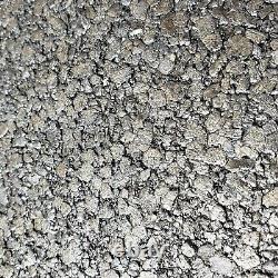 Moderne Charcoal Argent Gris Big Chip Stone Naturel Mica Fond D'écran Plain Texturé