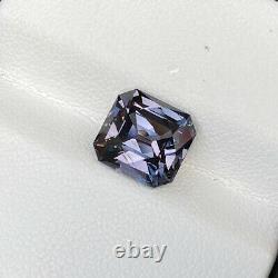 Natural Unheated Grey Spinel 4.07 Cts Asscher Cut Loose Gemstone Vs Sri Lanka