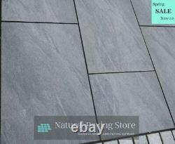 Noir 600×900 Pavages En Porcelaine D'anthracite Dalles De Patio 40 Tuiles 21,06m2