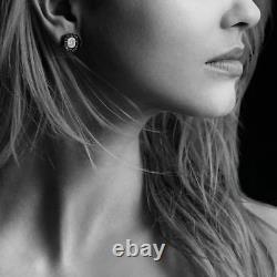 Nouvelles Boucles D'oreilles David Yurman Midnight Melange Avec Hematite & Diamonds Au Détail 1850 $
