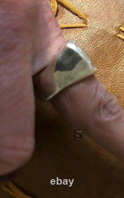 Nwot Sterling Argent Et Diamant Designer Libanais Rosa Maria Lulu Bague Sz 7,5